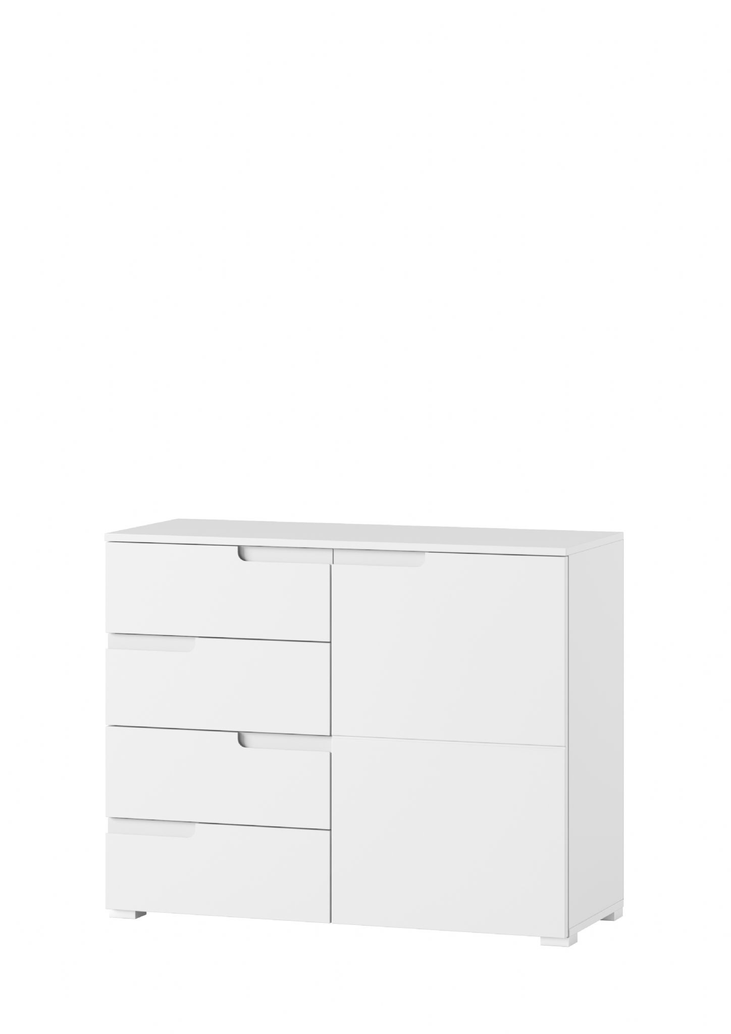 Cellini White Gloss Small Compact Sideboard